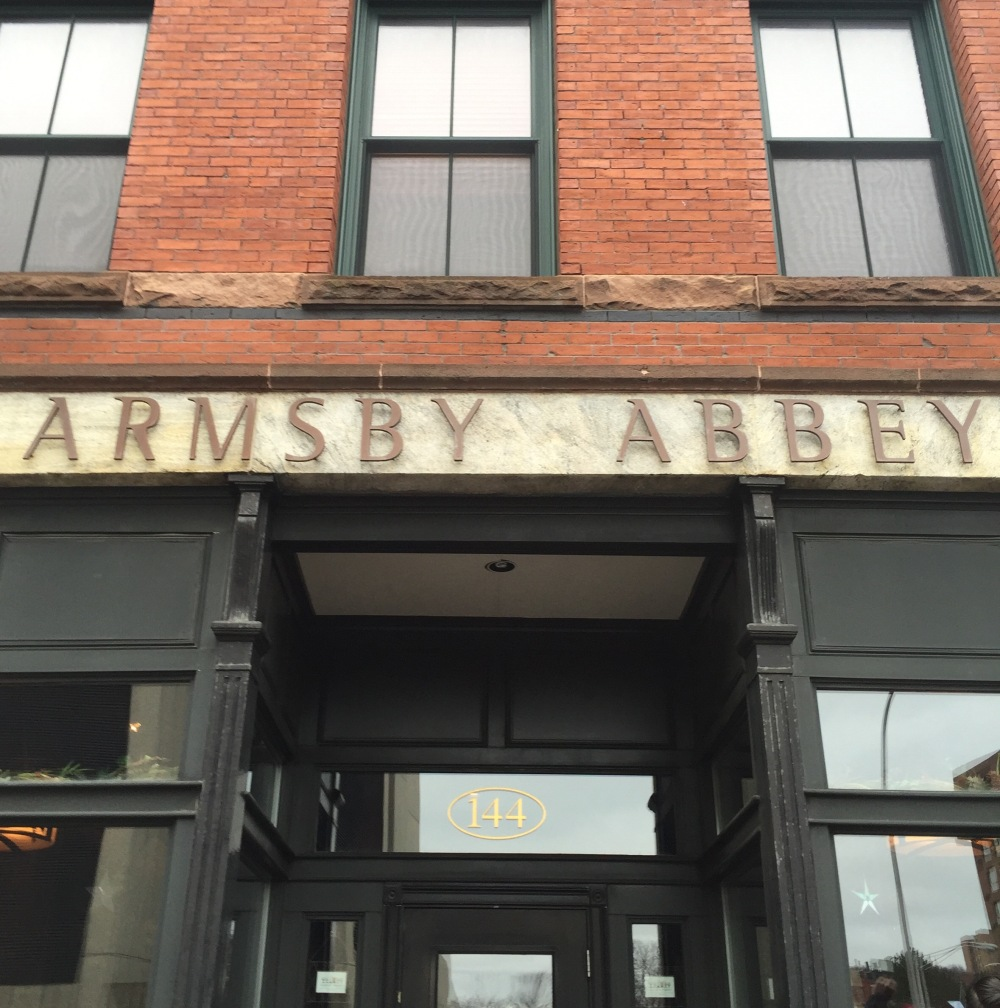 Armsby Abbey sign