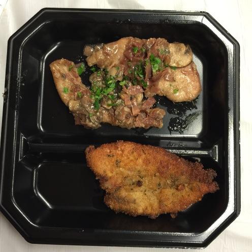 Pheasant Marsala w/Prosciutto (top), Pheasant Cutlet Romano